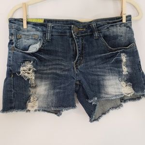 Machine denim jean cutoff shorts Sz Large/ 30